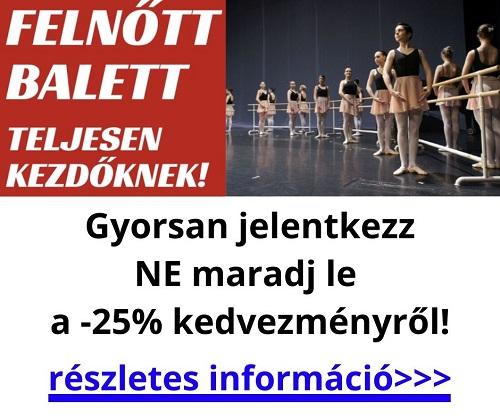 Budapest közepén kezdő felnőtt balett oktatás